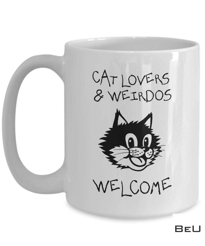 Cat Lovers And Weirdos Welcome Mug