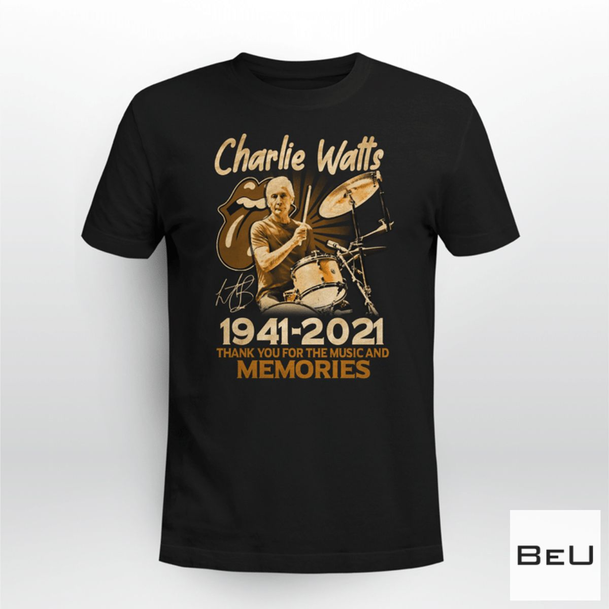 Charlie Watts 1941-2021 Thank You For The Music And Memories Shirt