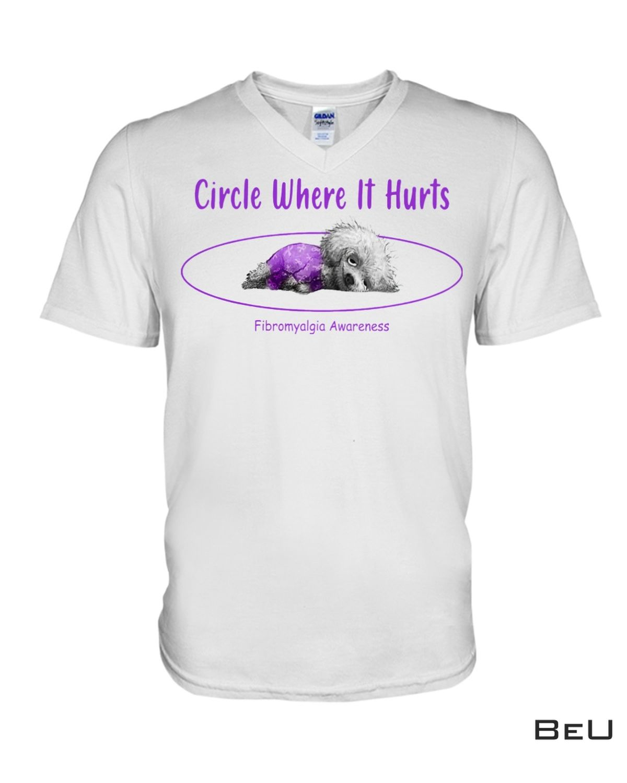 All Over Print Circle Where It Hurts Fibromyalgia Awareness Shirt