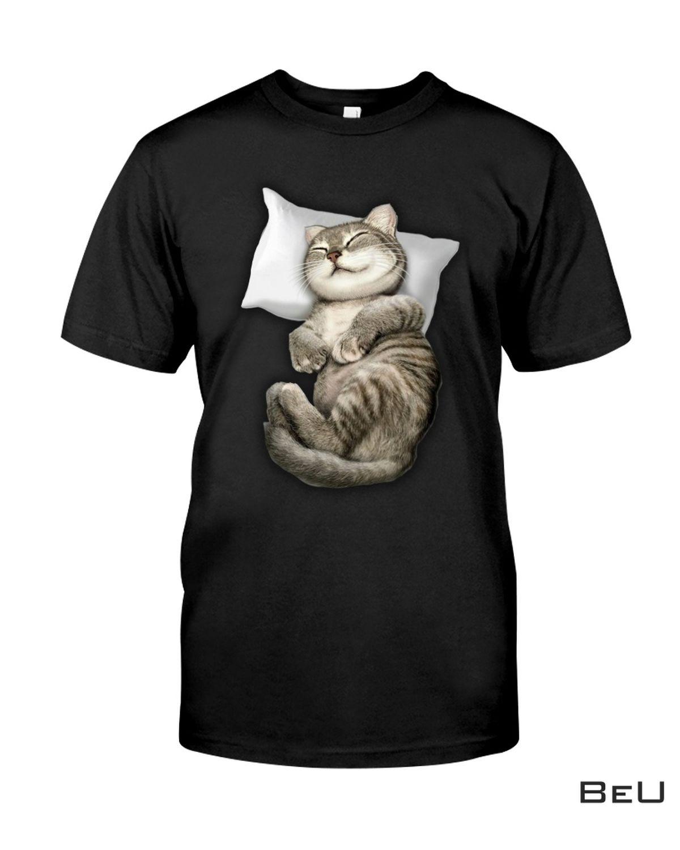 Cute Cat Sleeping Like An Angel Shirt