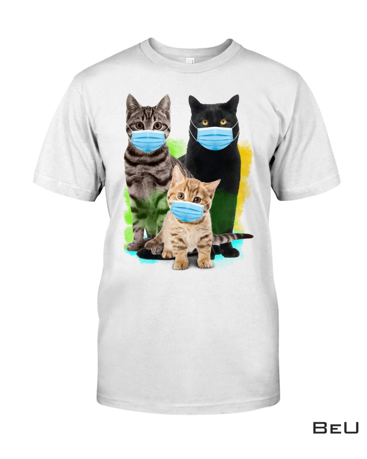 Cute Cats Mask On Together Shirt, hoodie, tank top