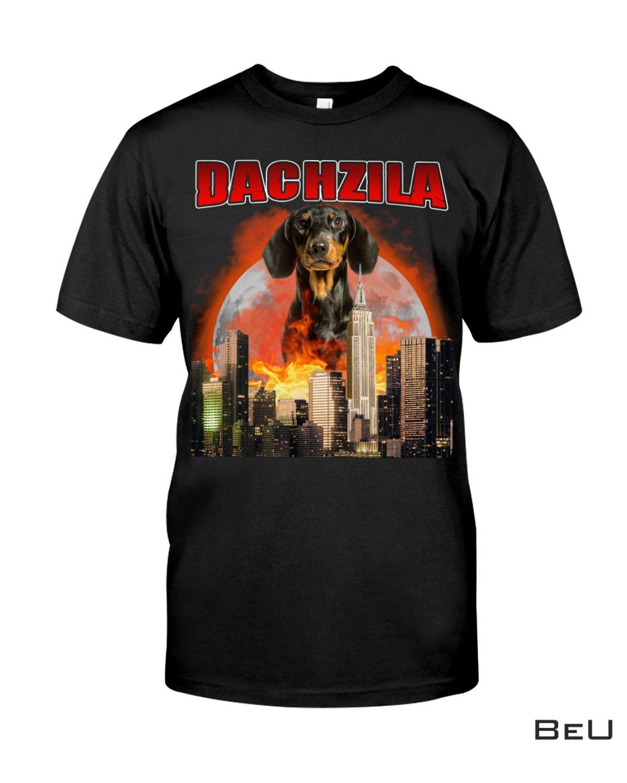Dachshund Dachzila City In The Moon Shirt, hoodie, tank top