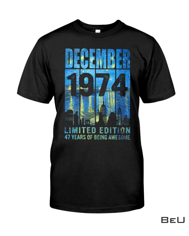 December 1974 Limited Edition Vintage Shirt, hoodie, tank top