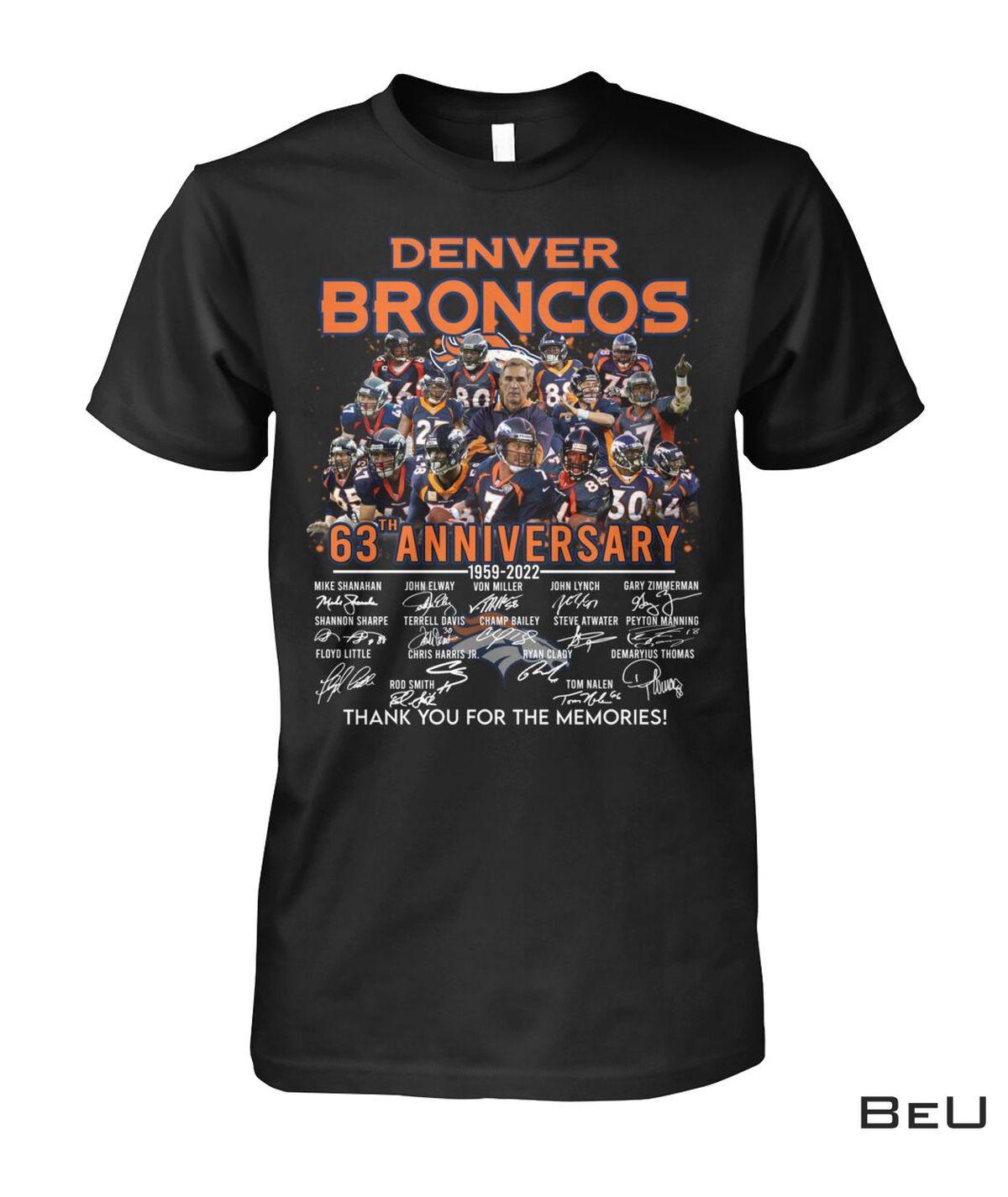 Denver Broncos 63 Years Anniversary Shirt, hoodie, tank top