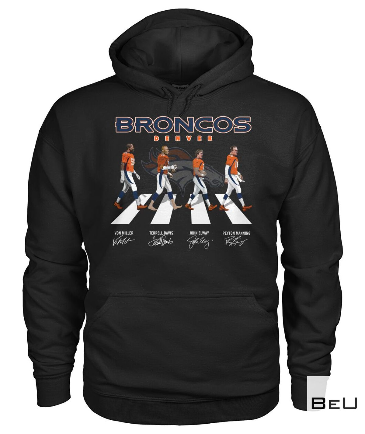 Denver Broncos The Beatles Abbey Road Walk Shirt, hoodie, tank top