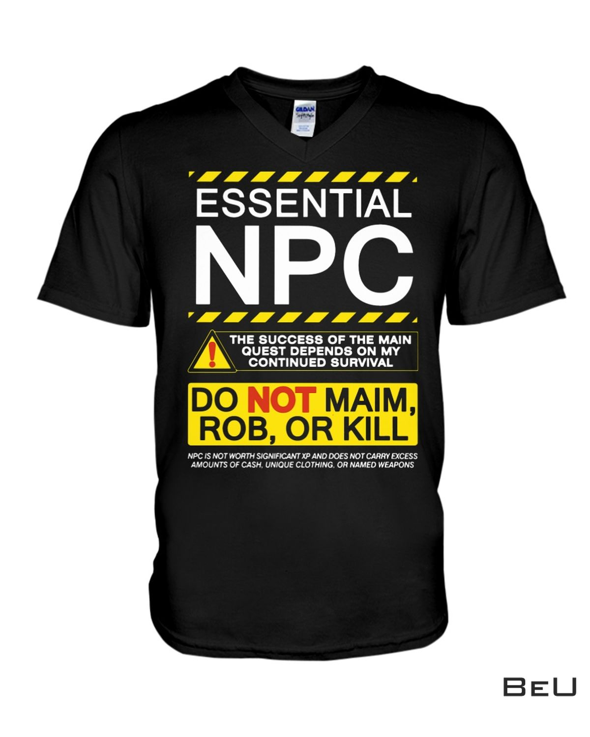 Father's Day Gift Essential Npc Do Not Maim Rob Or Kill Shirt