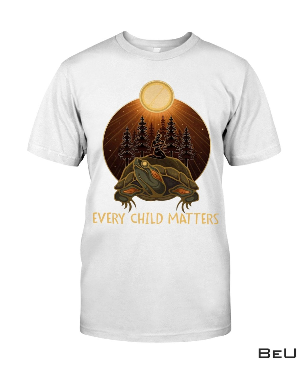 Every Child Matters Native American Sun Forest Shirt
