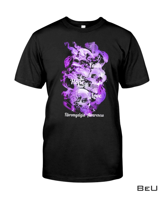 Faith Hope Love Fibromyalgia Awareness Shirt, hoodie, tank top