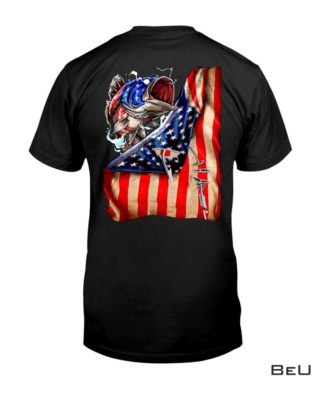 Fishing Hooked American Flag Classic Shirt, hoodie, tank top