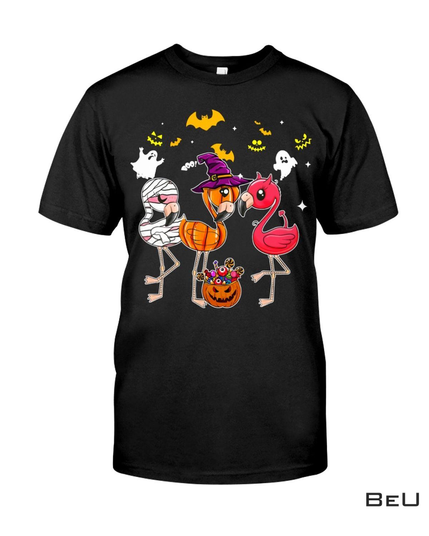 Flamingo Happy Halloween Crewneck Sweatshirt, hoodie, tank top