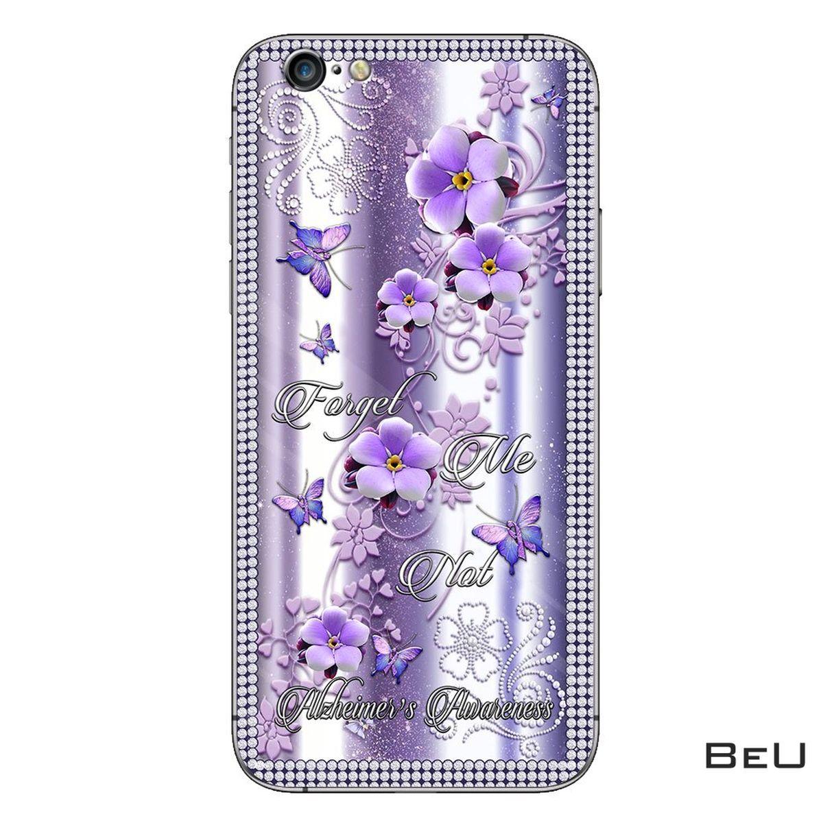 Discount Forget Me Not Alzheimer Awareness Flower 3d  Phone Case