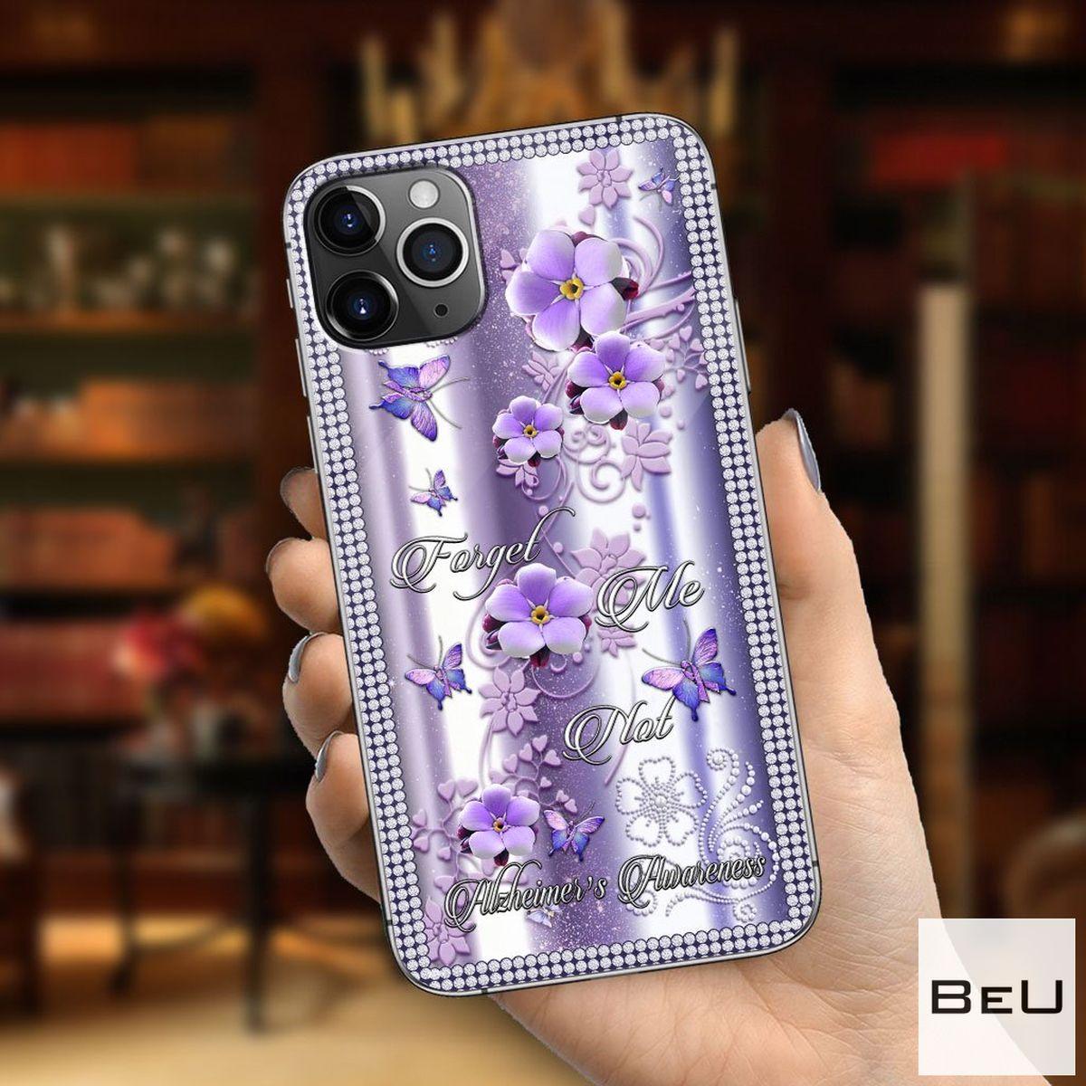 Forget Me Not Alzheimer Awareness Flower 3d Phone Case
