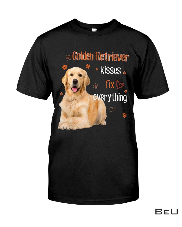 Golden Retriever Kisses Fix Everything Shirt, hoodie, tank top