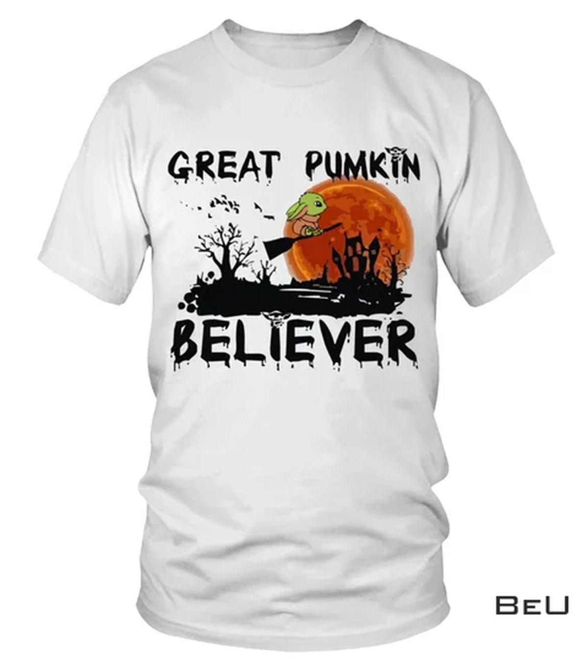 Great Pumpkin Believer Yoda Witch Shirt