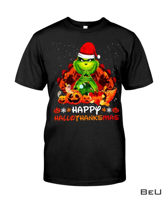 Grinch Happy Hallothanksmas Shirt, hoodie, tank top