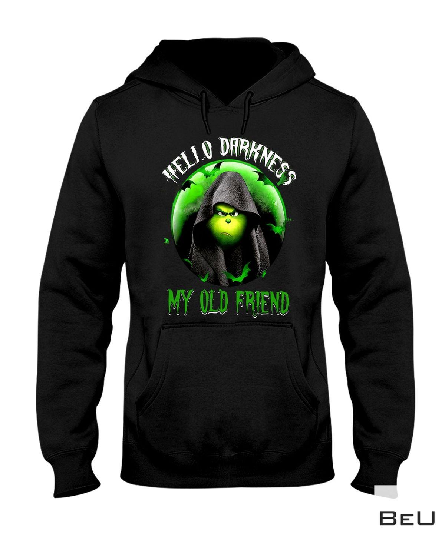 Grinch Hello Darkness My Old Friend Shirt a