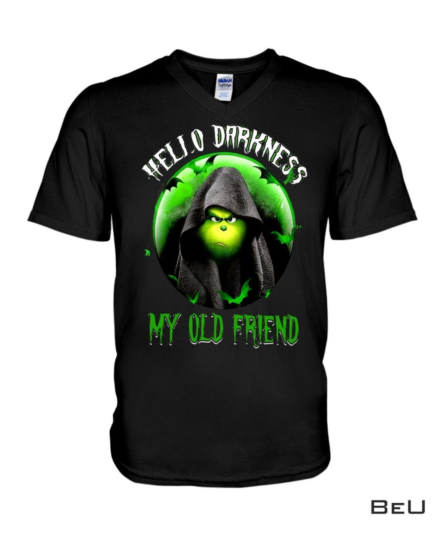 Grinch Hello Darkness My Old Friend Shirt b