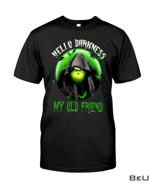 Grinch Hello Darkness My Old Friend Shirt, hoodie, tank top
