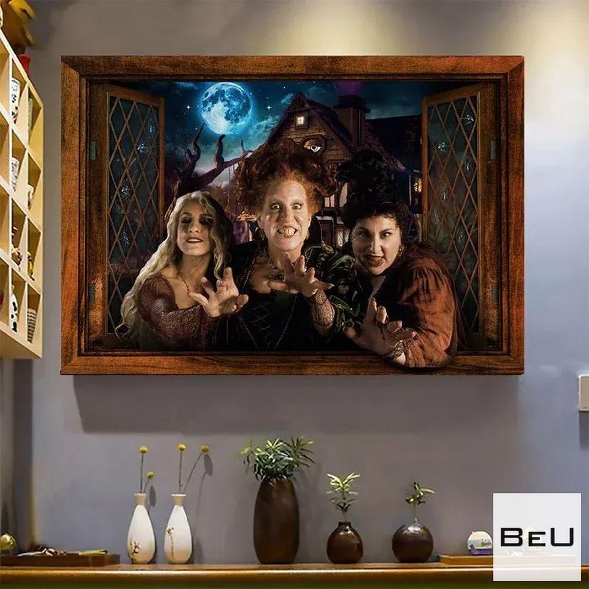Hocus Pocus Halloween Window Poster