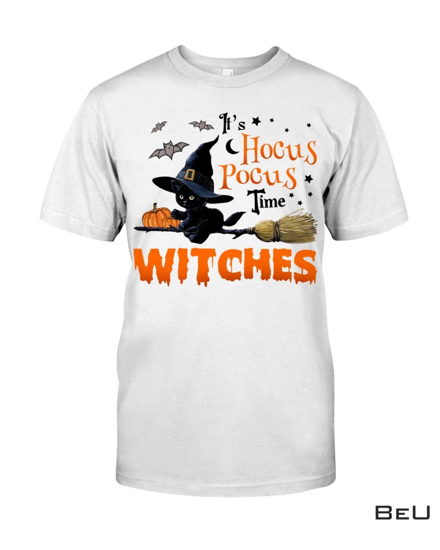 Hocus Pocus Time Witches Cat Shirt
