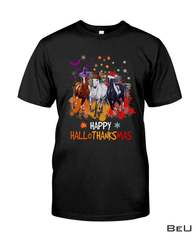 Top Selling Horse Happy Hallothanksmas Shirt, hoodie, tank top