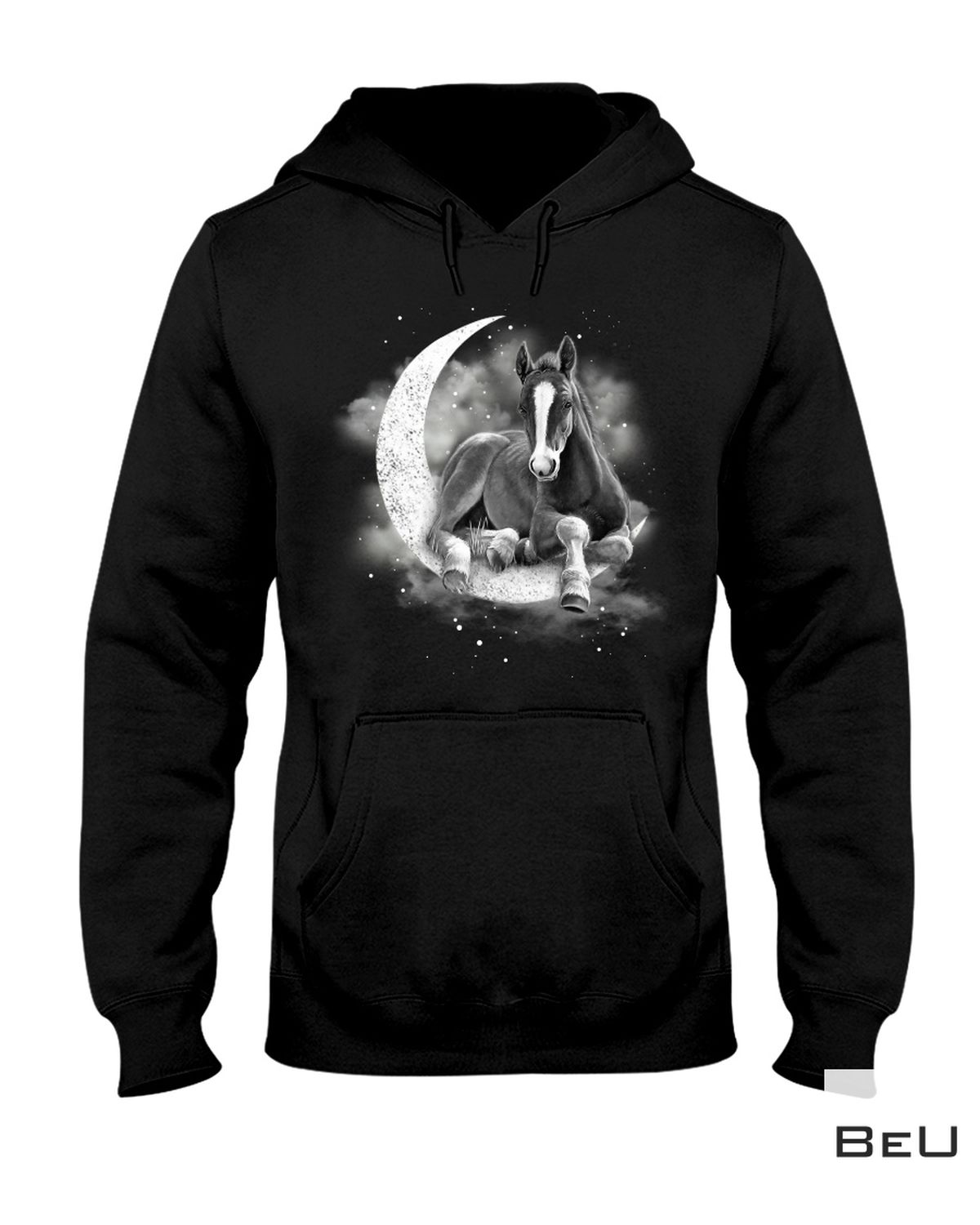 Beautiful Horse Sit On The Moon Shirt