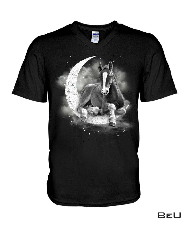 Unisex Horse Sit On The Moon Shirt