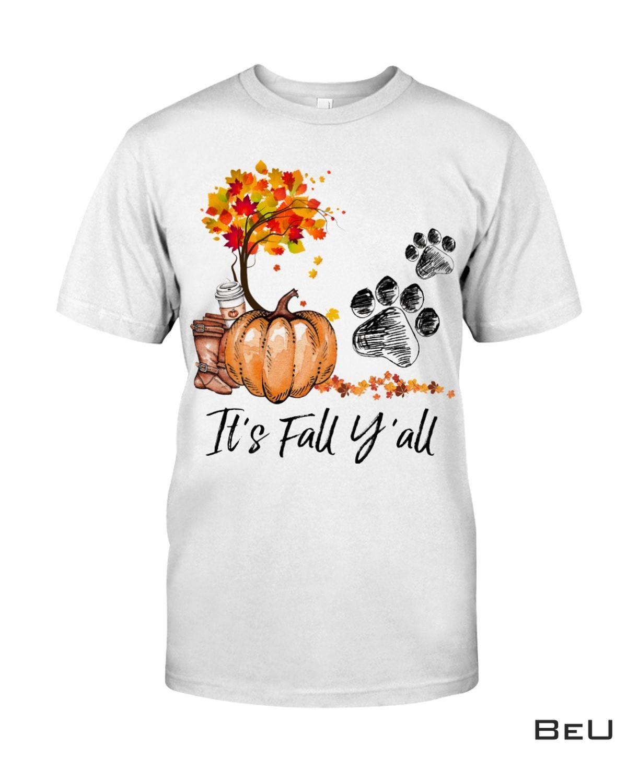 It Is Fall Y'all Dog Paw Hoodie, hoodie