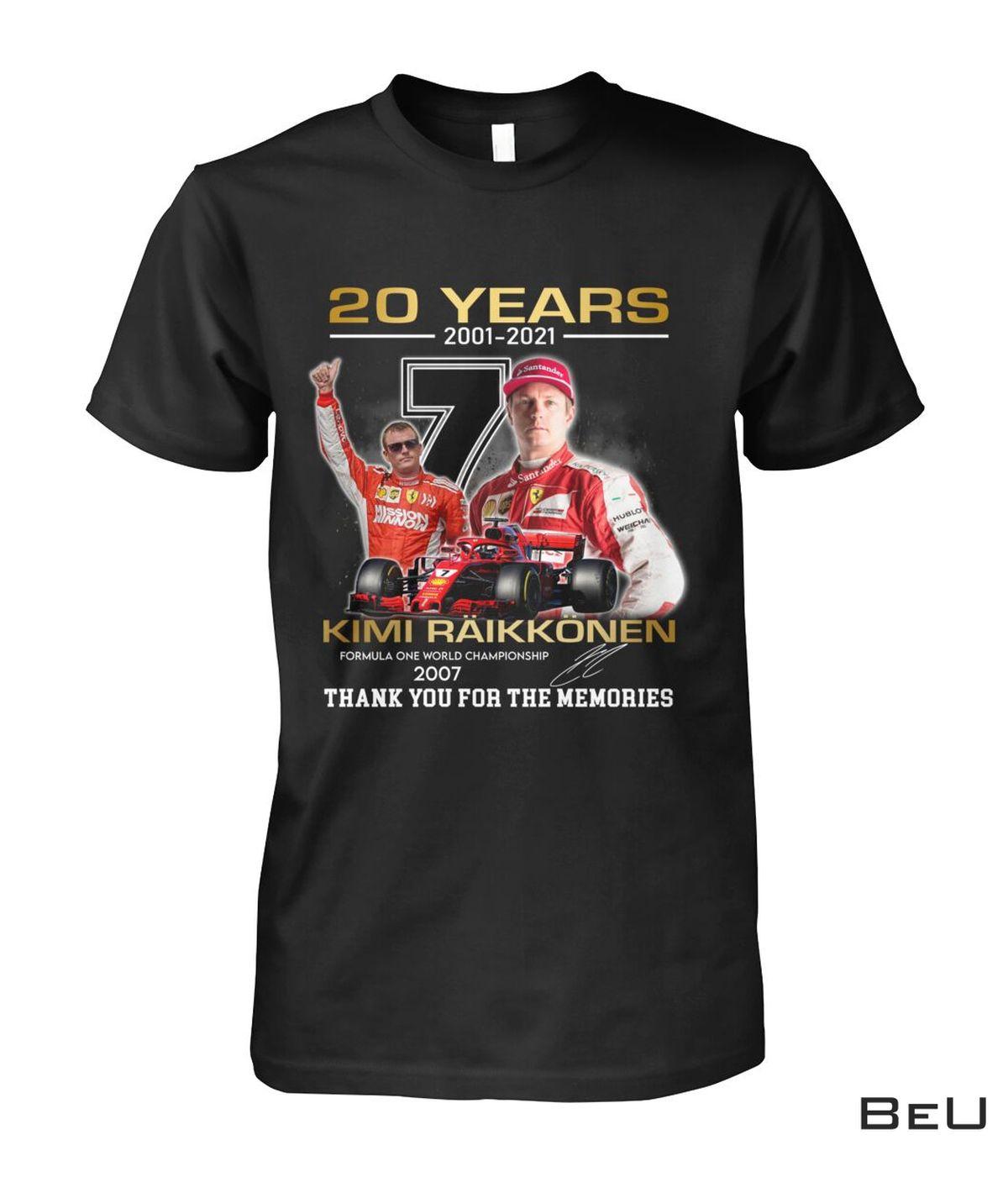 Kimi Raikkonen Formula One World Champion 2007 Shirt, hoodie, tank top