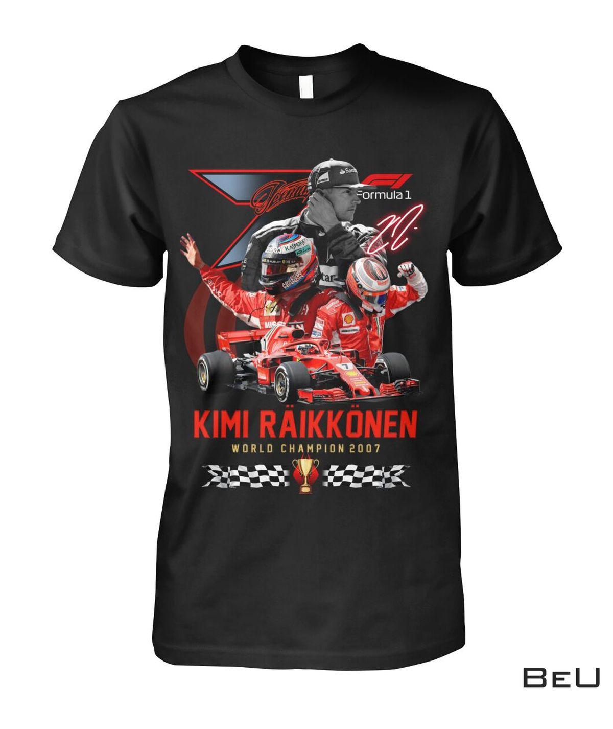 Kimi Raikkonen World Champion 2007 Shirt, hoodie, tank top