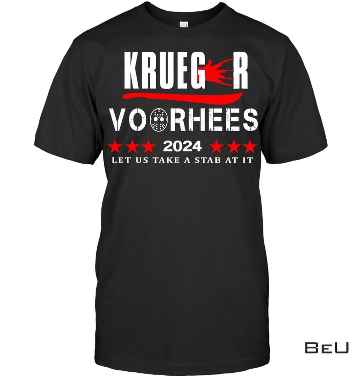 Krueger Voorhees 2024 Let Us Take A Stab Shirt, hoodie, tank top