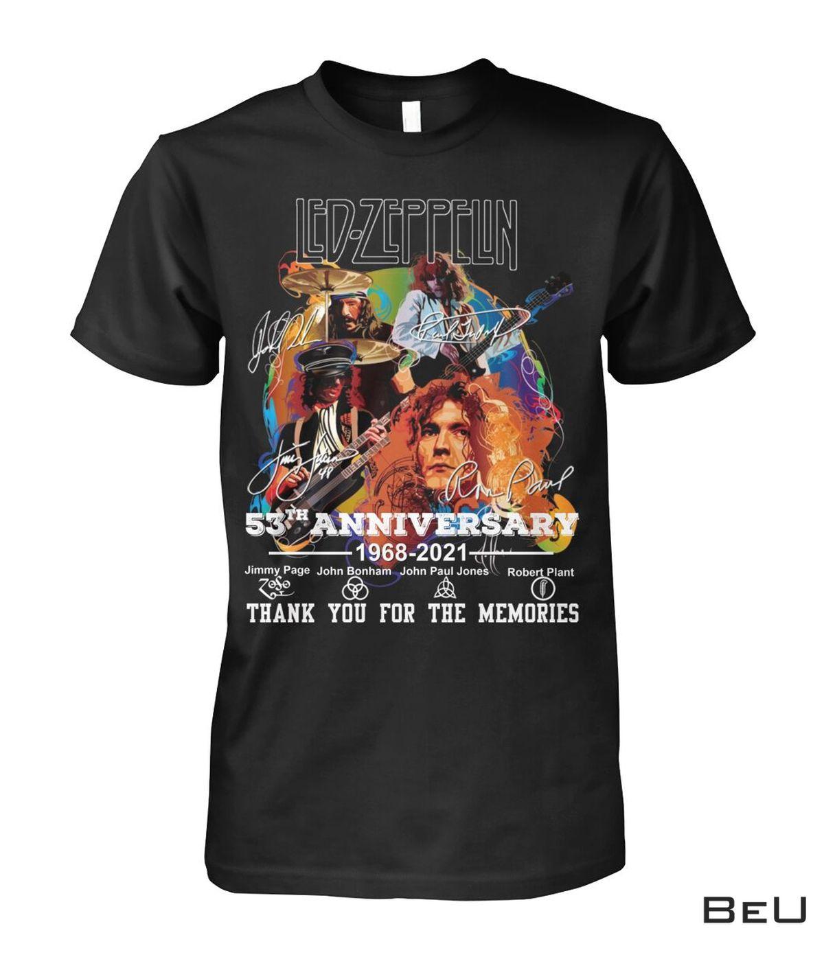 Led Zeppelin 53 Years Anniversary Shirt, hoodie, tank top