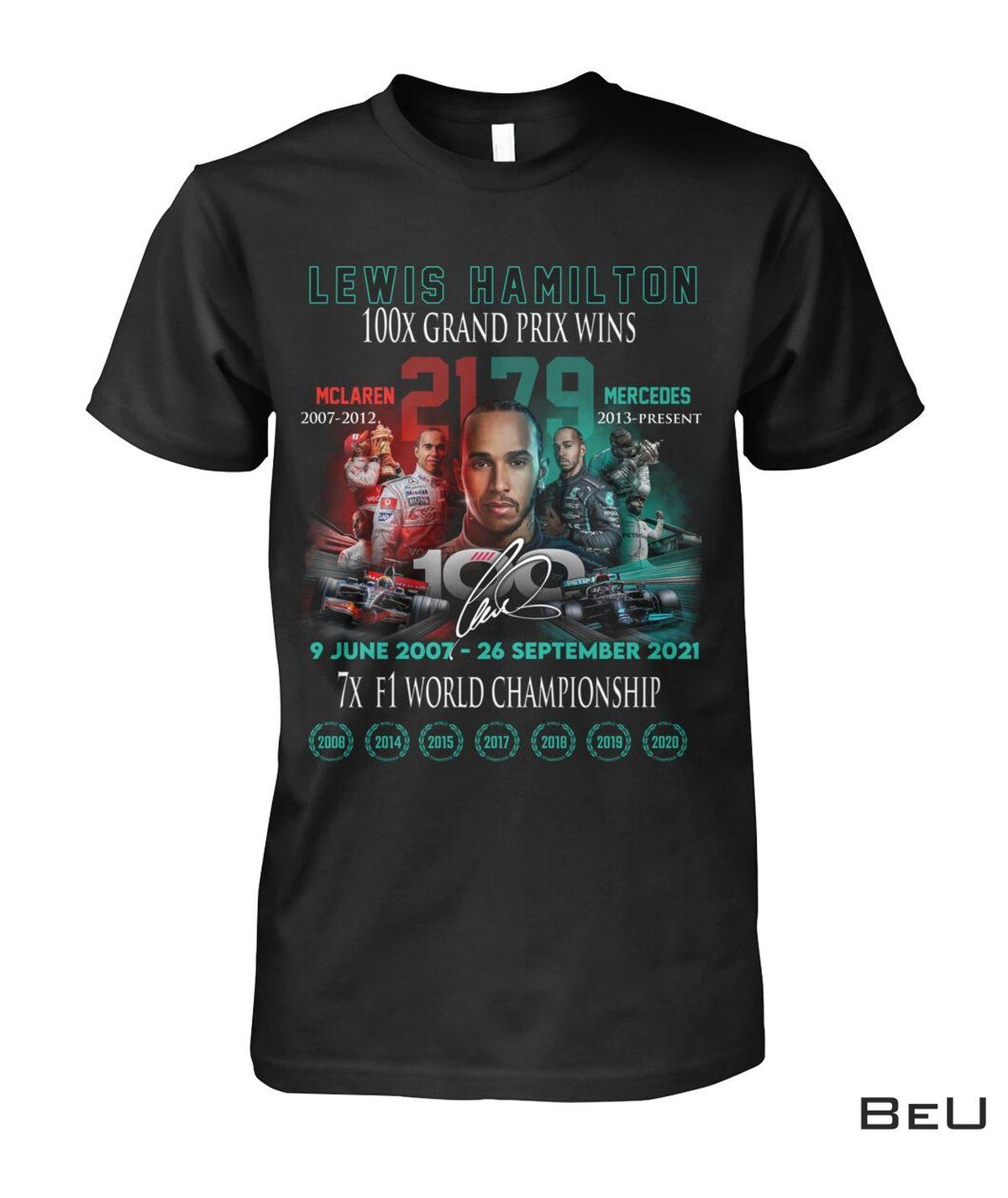 Lewis Hamilton 100x Grand Prix Wins Shirt