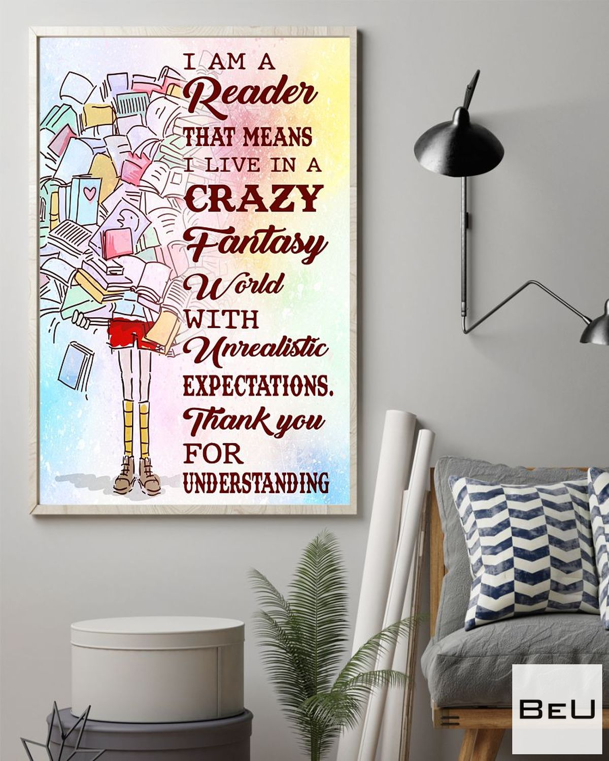 Top Selling Librarian I Am A Reader That Means I Live In A Crazy Fantasy World With Unrealistic Expectations Poster