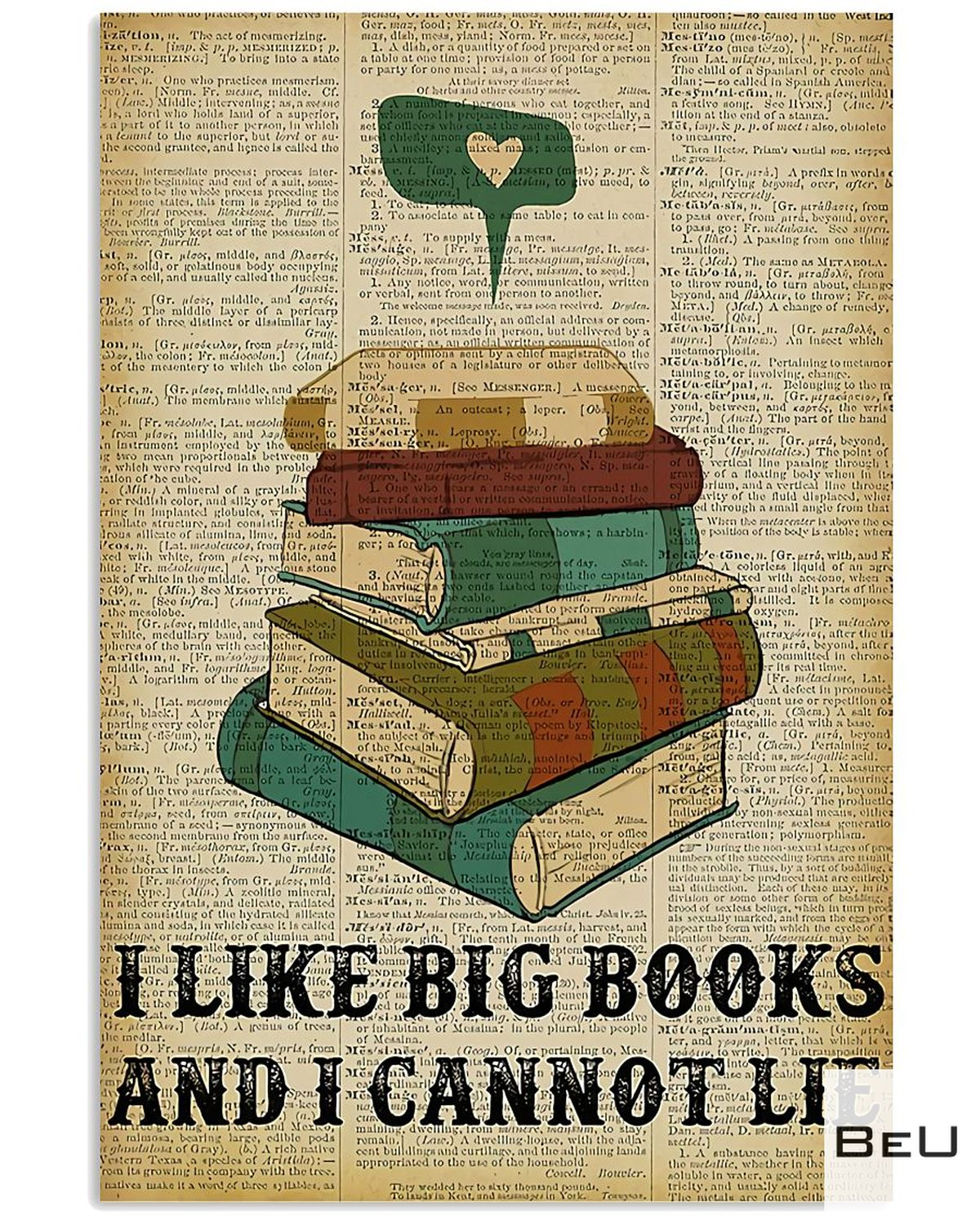 Librarian I Like Big Books And I Cannot Lie Poster
