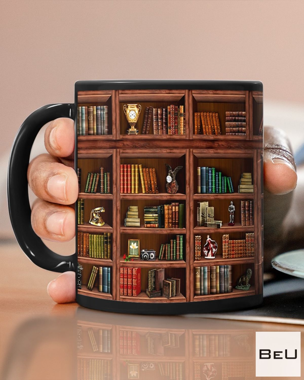 Unisex Library Bookshelf Mugs