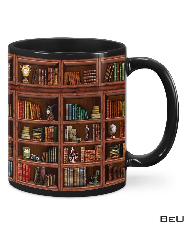 Print On Demand Library Bookshelf Mugs