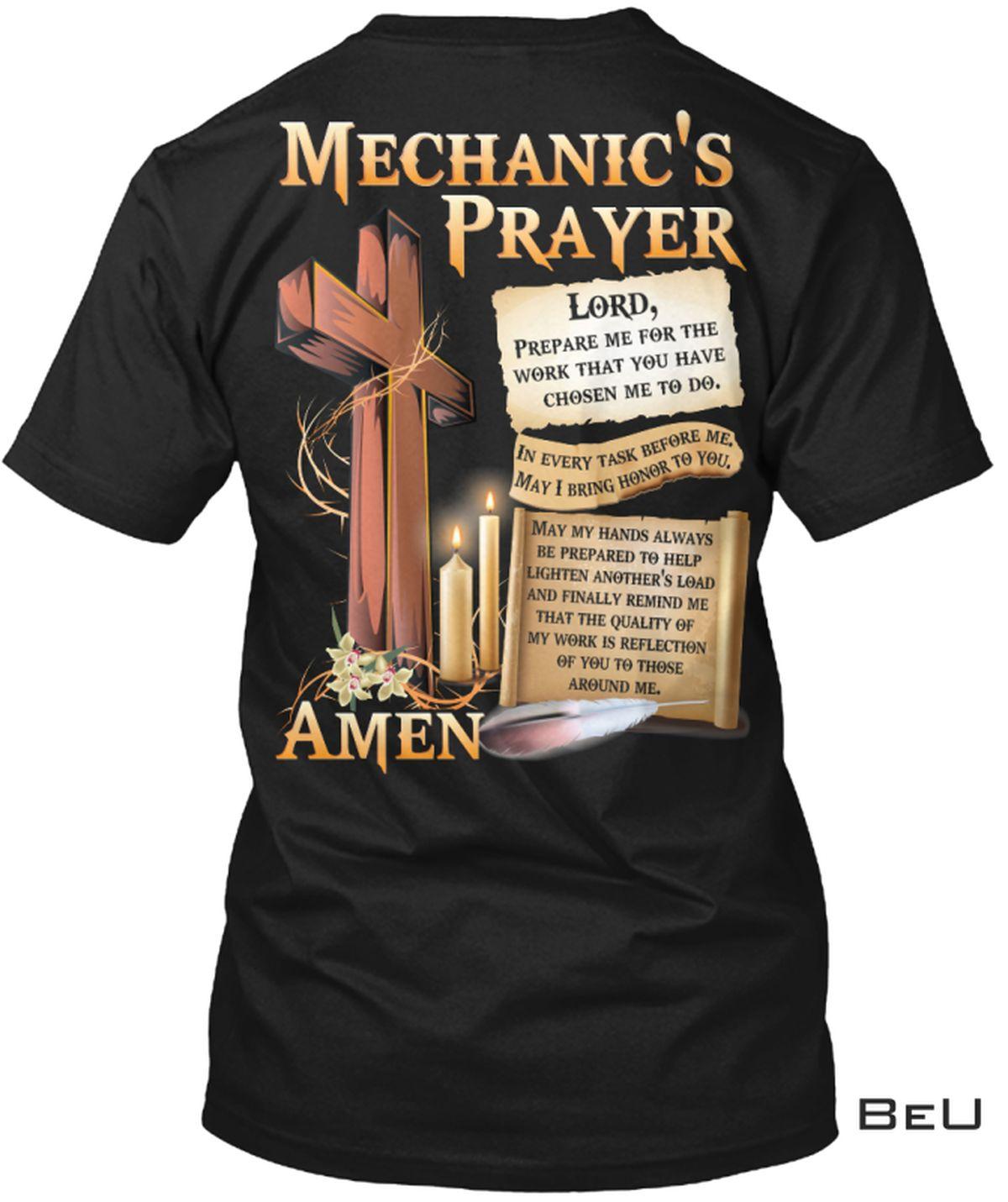 Mechanic's Prayer Amen Shirt, hoodie