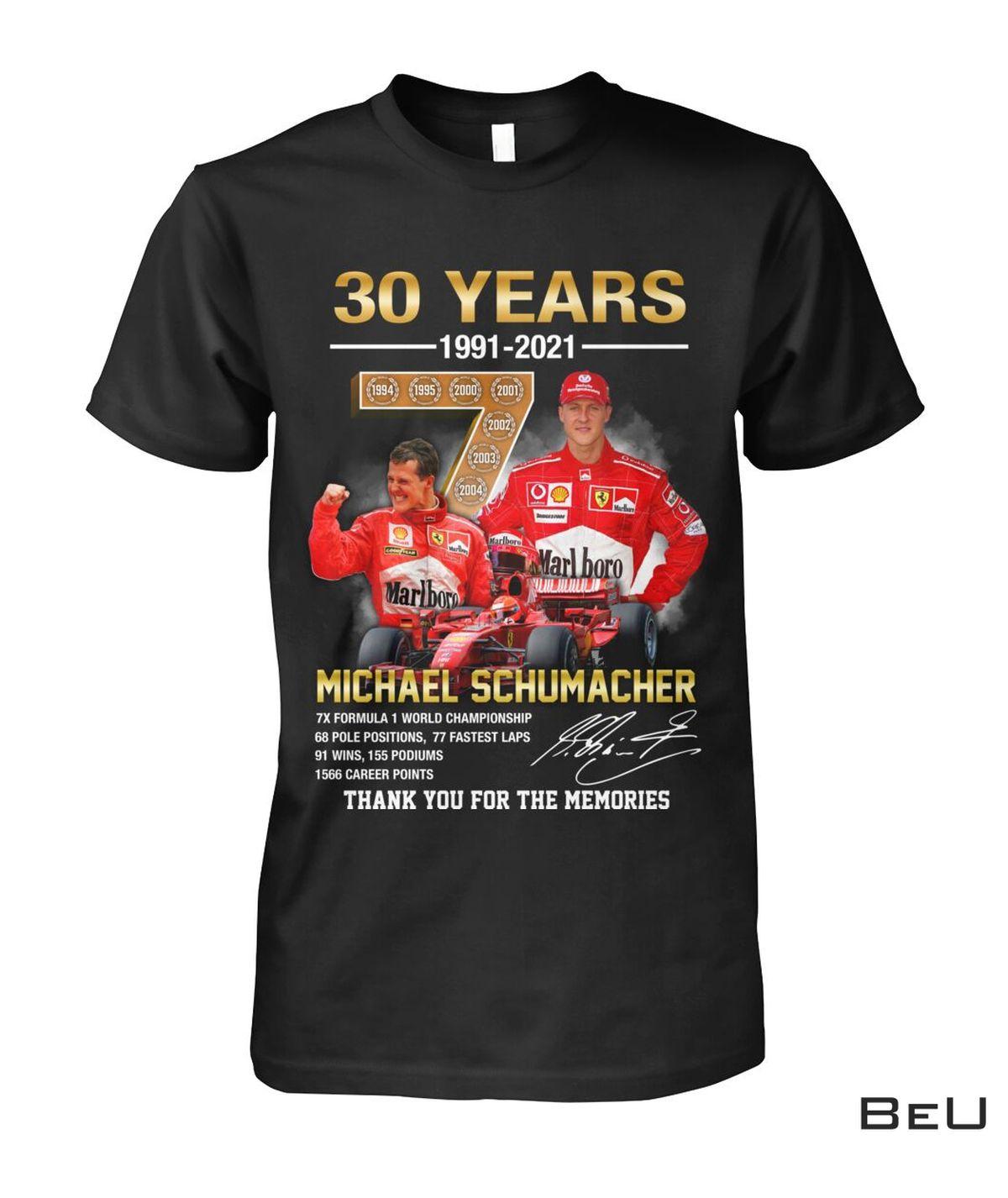 Michael Schumacher 30 Years F1 World Championship Shirt, hoodie, tank top