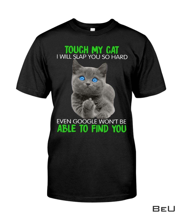 My Cat Was Sitting On Me I Will Slap You So Hard Purple Shirt, hoodie, tank top