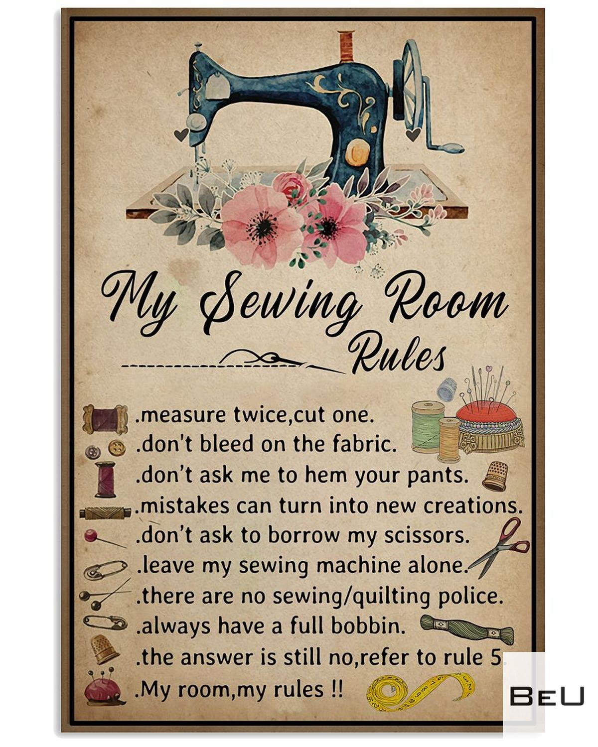New My Sewing Room Rules Poster