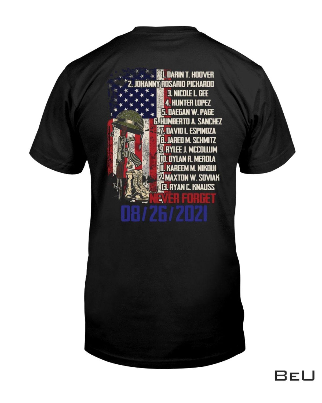 Never Forget 08-26-2021 us Veteran Shirt, hoodie, tank top