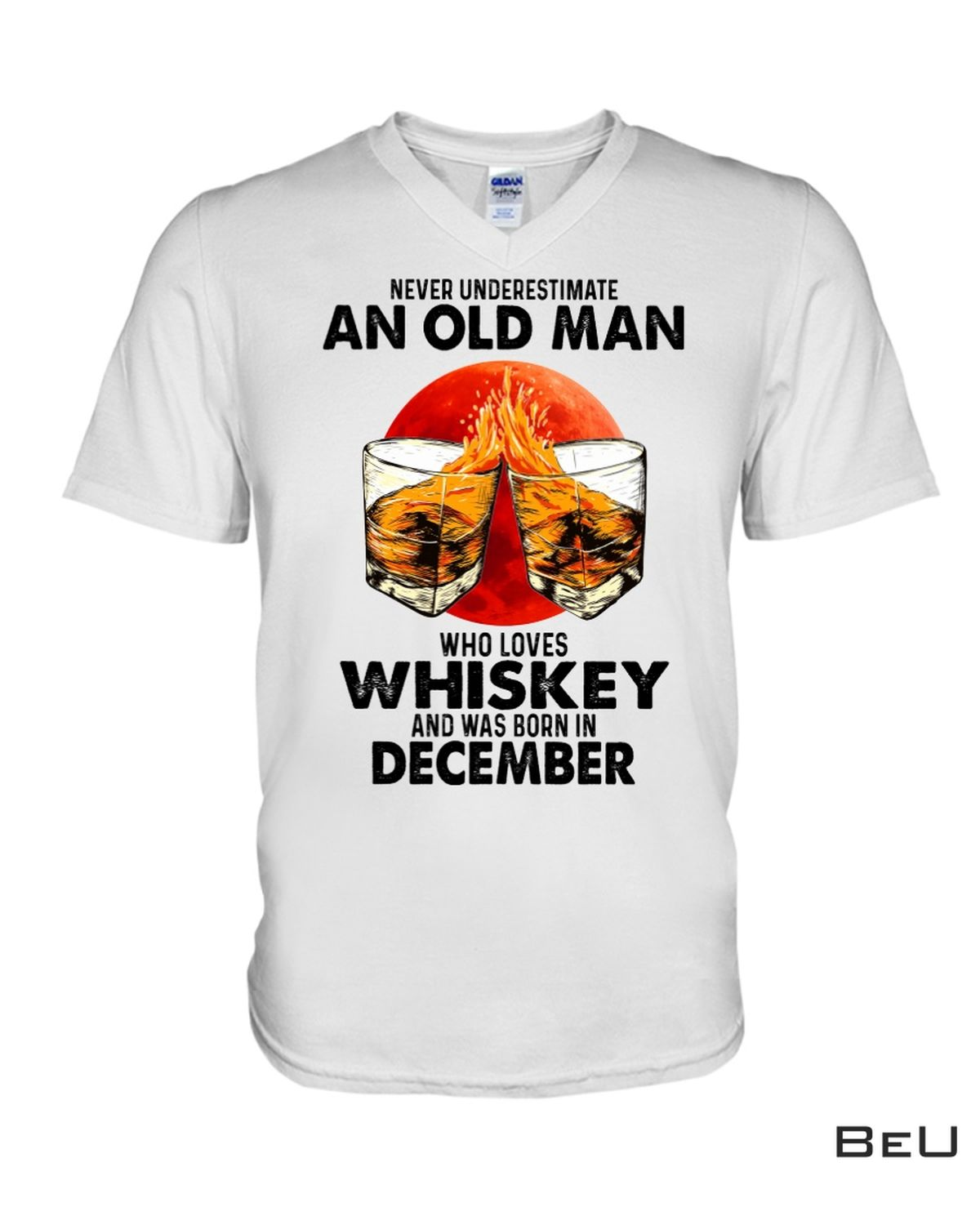 Free Never Underestimate An Old Man Who Love Whiskey And Born In December Shirt, hoodie, tank top