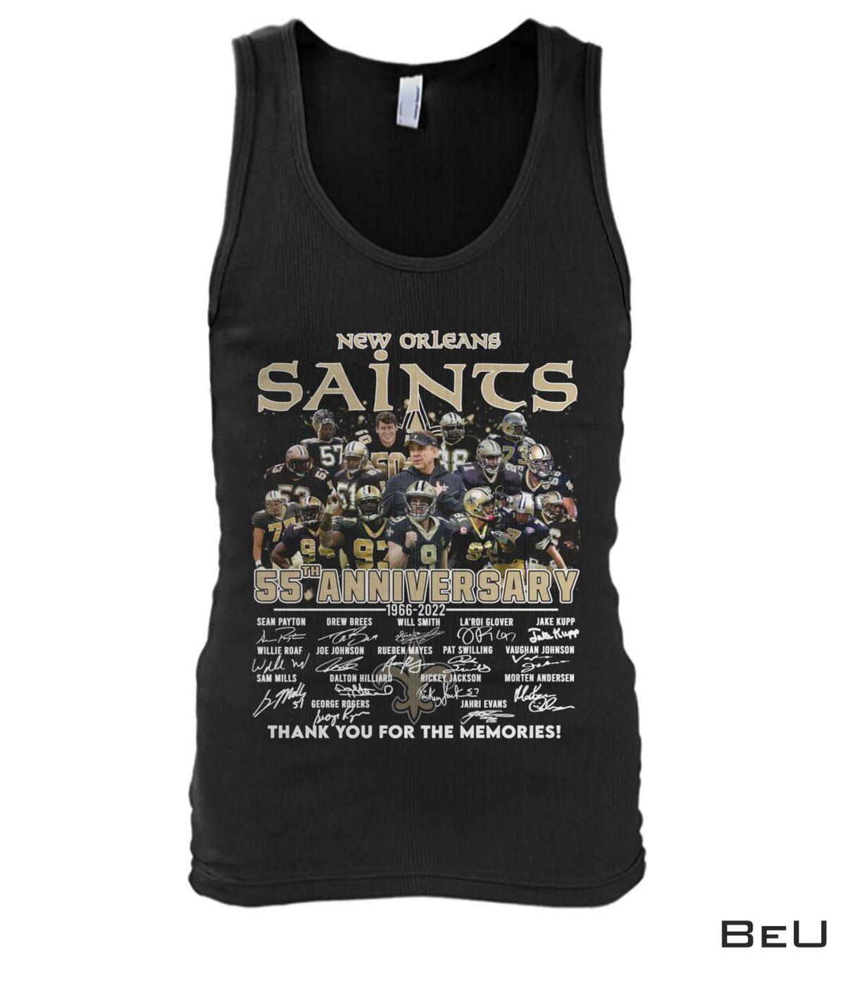 New Orleans Saints 55th Anniversary Shirt b