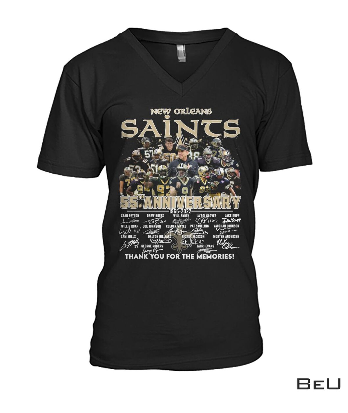 New Orleans Saints 55th Anniversary Shirt c