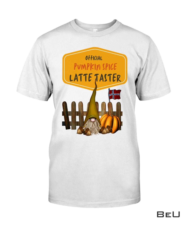 Official Pumpkin Spice Latte Taster Norwegian Gnome Shirt