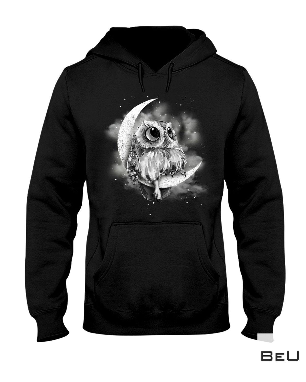 Handmade Owl Sit On The Moon Shirt