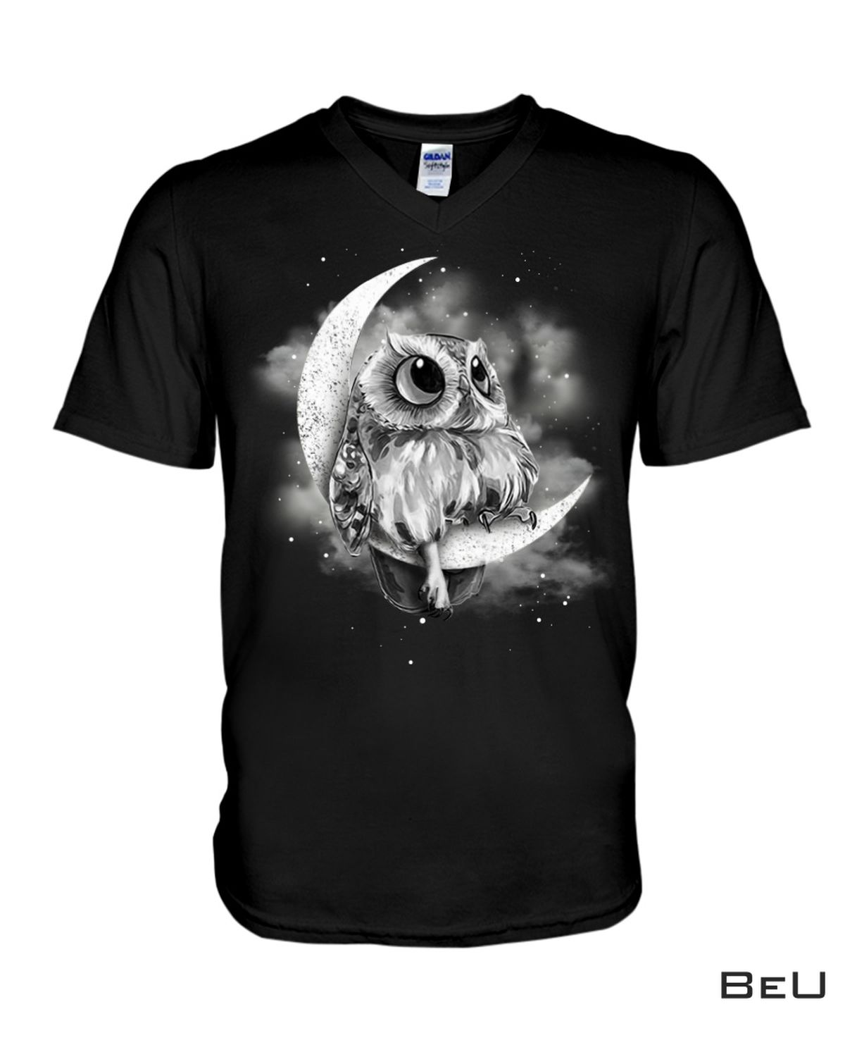 Absolutely Love Owl Sit On The Moon Shirt