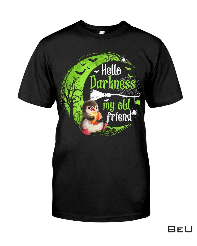 Penguin Hello Darkness My Old Friend Halloween Shirt