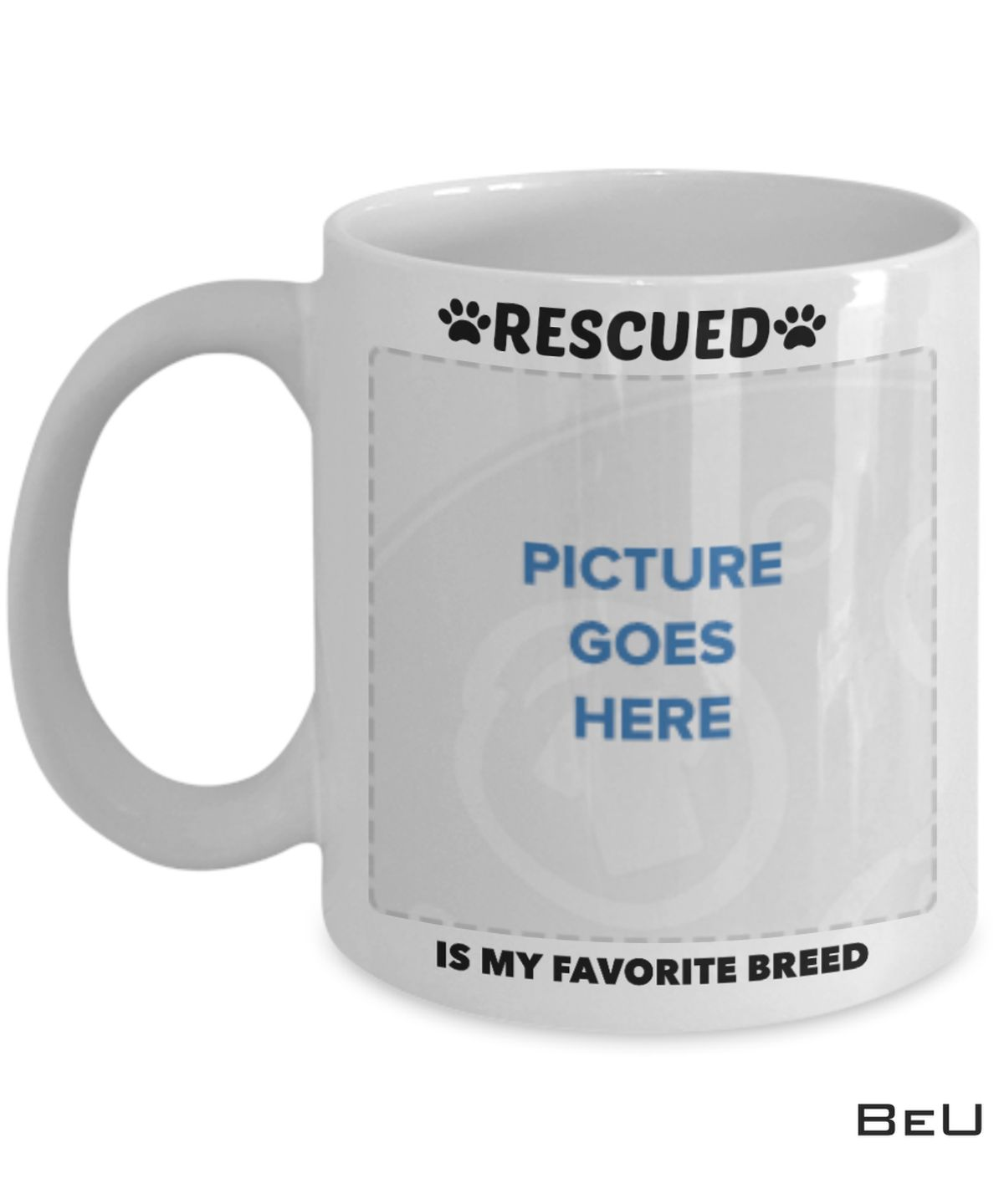Personalized Pet Rescured Is My Favourite Breed Mug